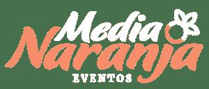 Logo Media Naranja Eventos - Invertido Color